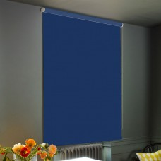 Dim-Out Parade Blue Roller Blind