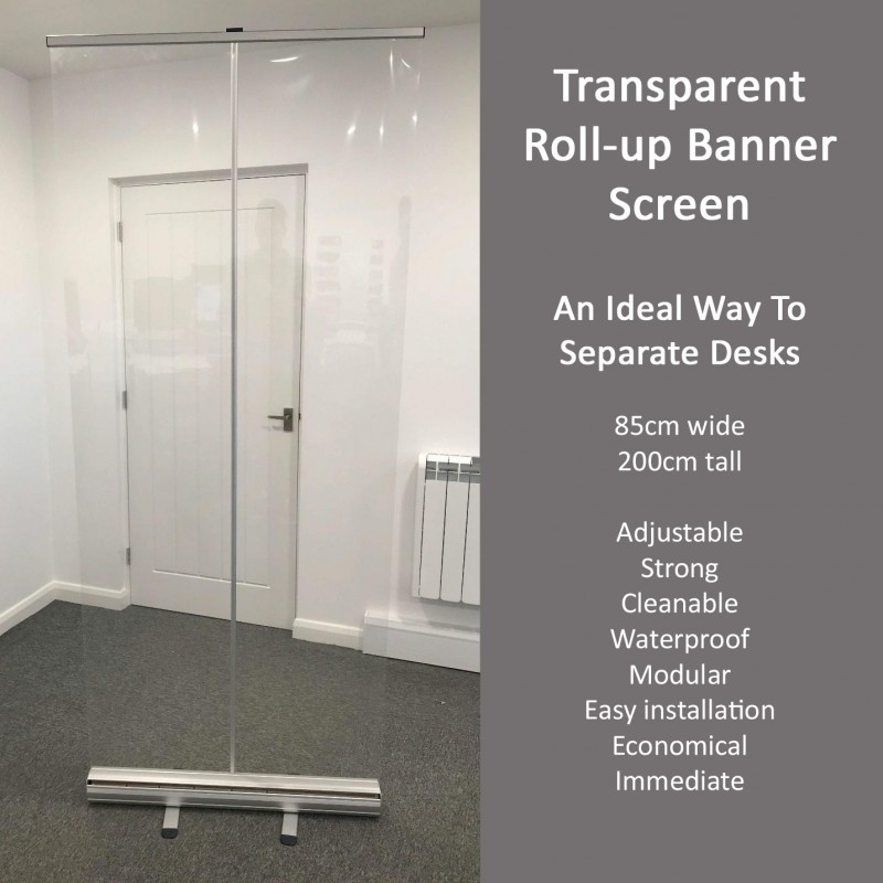 Transparent Roll-up Banner Screen